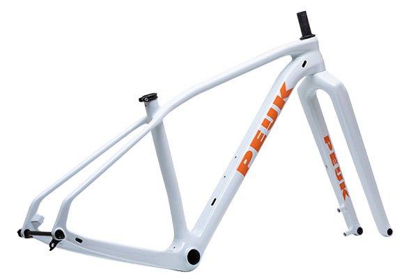 PEIJK VULGARIS is een mountainbike inclusief vaste carbon voorvork. Daardoor zeer geschikt als beachracer. Ruimte voor een dubbel of enkel crankstel.