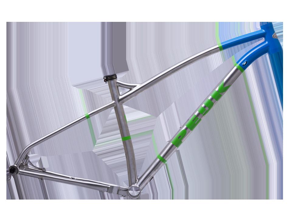 PEIJK VULGARIS TITANIUM is een fraai MTB frame en geschikt voor een 120 mm voorvork